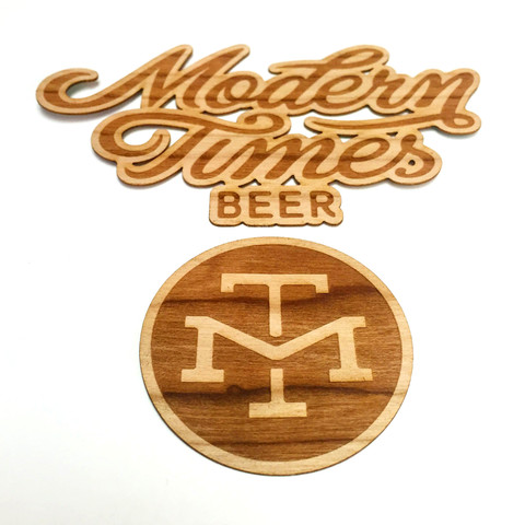 MODERN TIMES WOODEN STICKERS